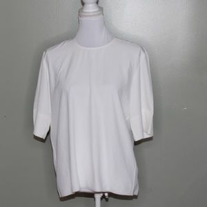 everlane women white zipper shirt SZ 4
